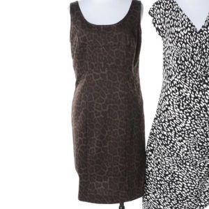 Brown Michael Kors leopard dress